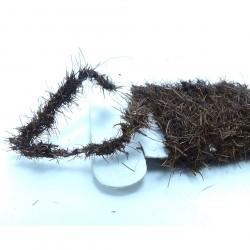 dubbing de liebre en cordon marron osc