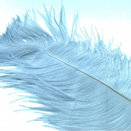 pluma avestruz HARELINE gris