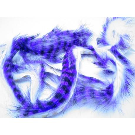 tiras de conejo barradas purpura/negro