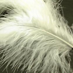 pluma marabou HARELINE blanco