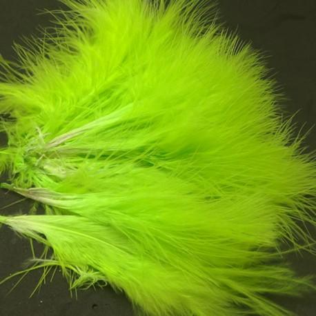 pluma marabou chartreuse