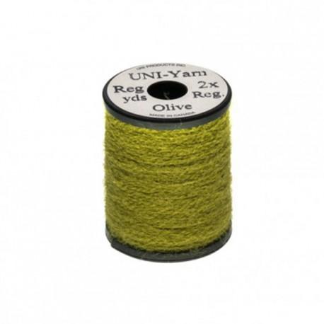hilo peludo UNI-YARN green olive