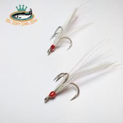 triples con plumas nº4 white