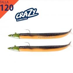 Crazy sand Eel 120 combo doble dark eel